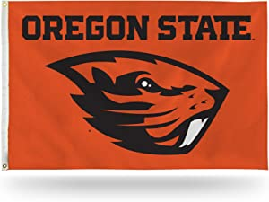 NCAA Rico Industries 3-Foot by 5-Foot Single Sided Banner Flag with Grommets, Oregon State Beavers