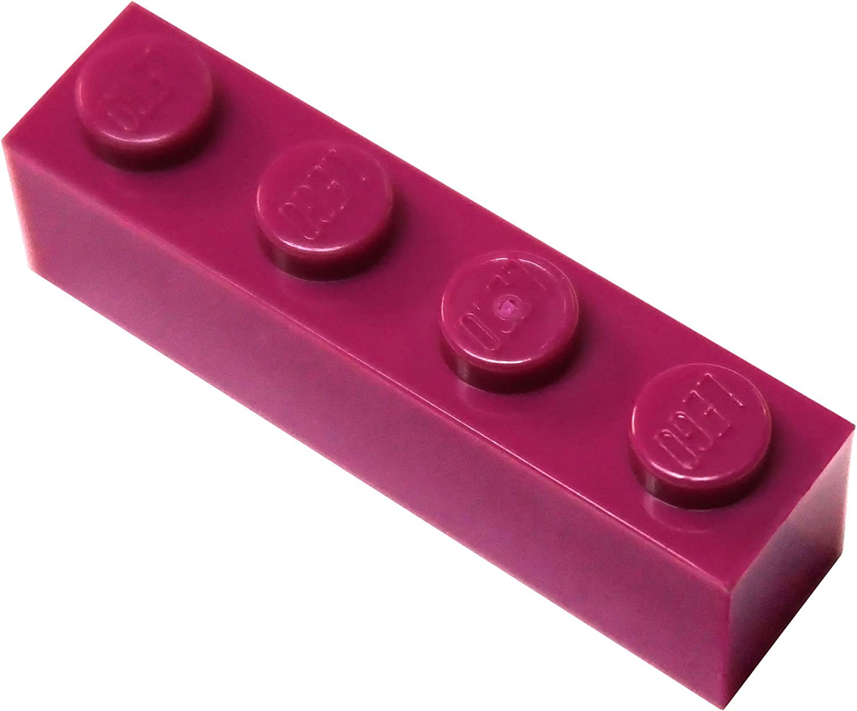LEGO Parts and Pieces: Magenta (Bright Reddish Violet) 1x4 Brick x50