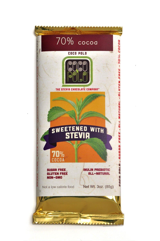 Amazon.com : Coco Polo, Stevia Sweetened 70% Cocoa Pure Dark ...