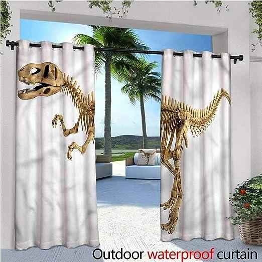 Cortina de privacidad para Exteriores de Dinosaurio cálido para ...