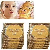 ZJchao Mascarilla Facial de Colágeno Hidratante de Cristal para Cuidado de Piel contra Envejecimiento
