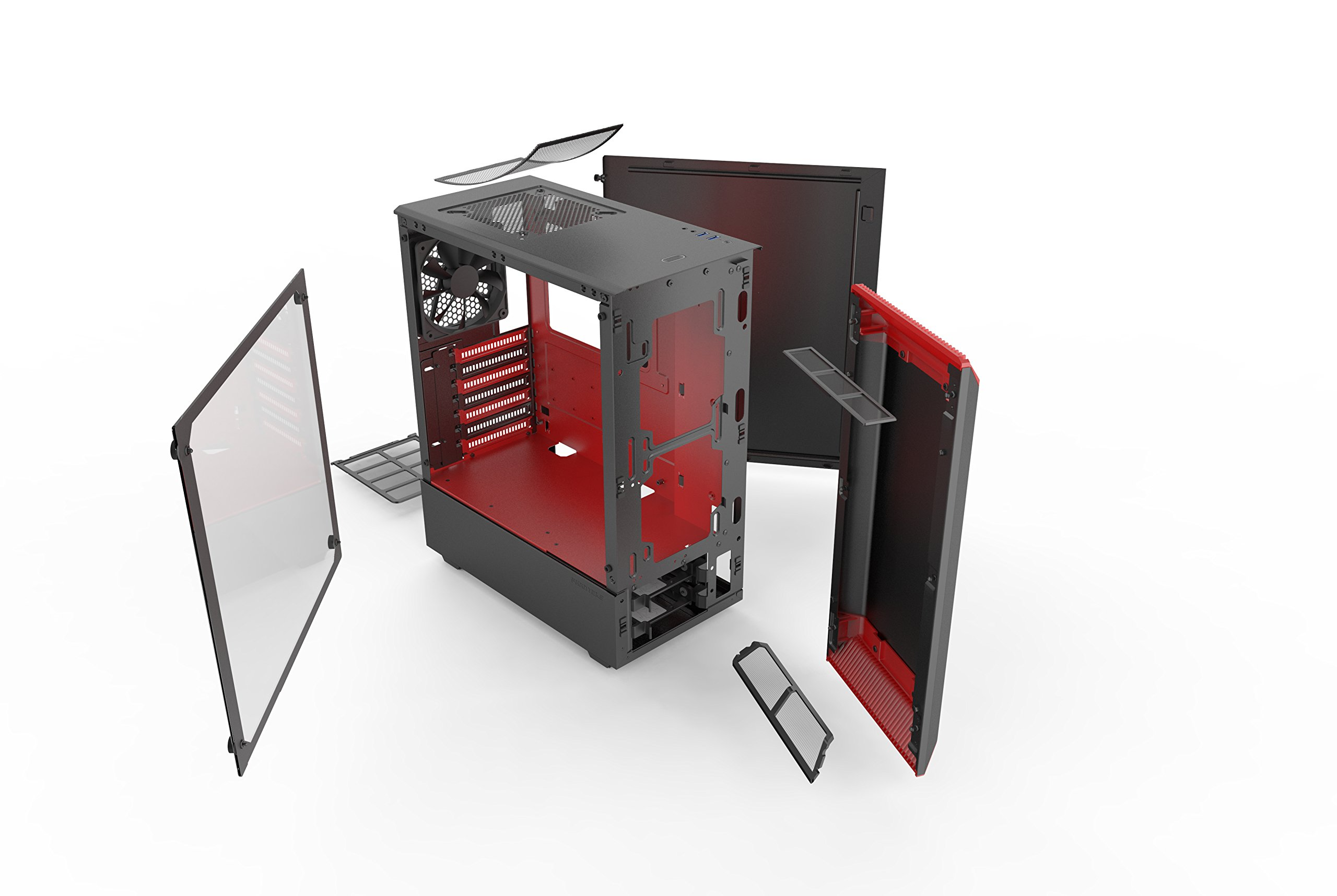Phanteks PH-EC300PTG_BR Eclipse P300 Tempered Glass Steel ATX Mid Tower Case Black/Red by Phanteks (Image #12)