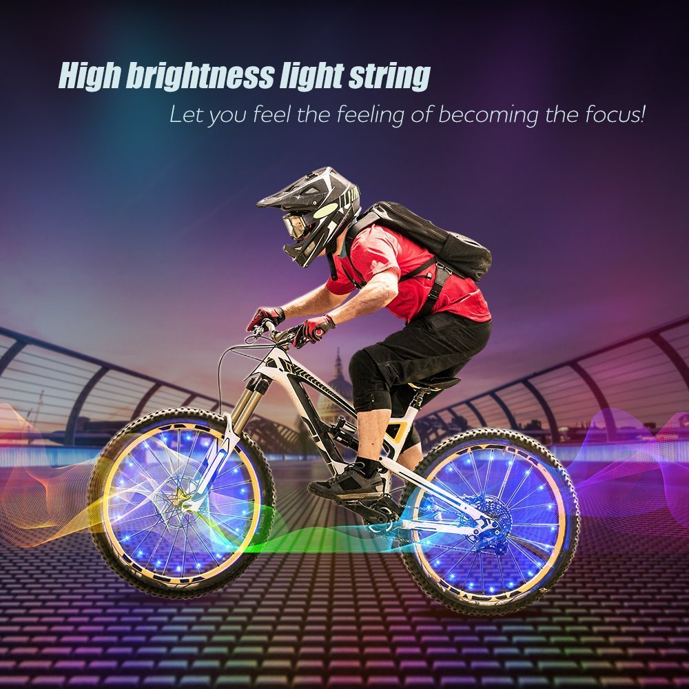 /(1 Or 2-Tire Pack/) Waterproof LEDs Bike Wheel Lights 7