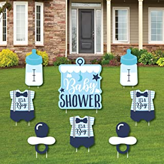 product image for It's a Boy - Yard Sign and Outdoor Lawn Decorations - Blue Baby Shower Yard Signs - Set of 8