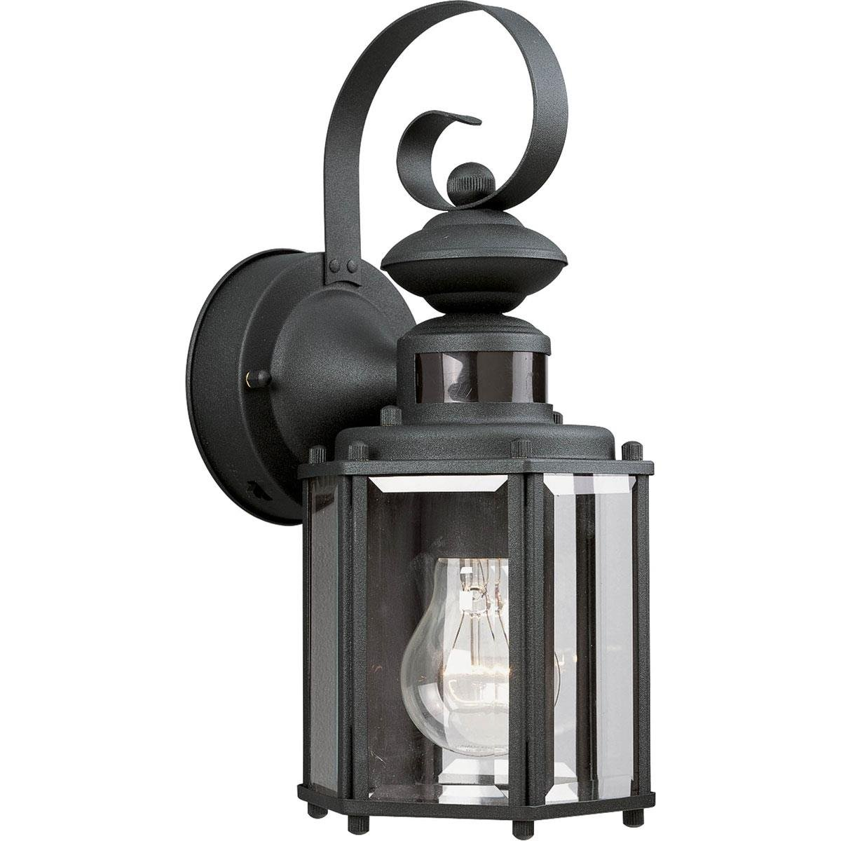 Black Motion Sensor Outdoor Wall Lantern - - Amazon.com