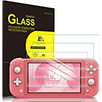 IVSO 3 Pack Screen Protector for Nintendo Switch Lite,Full Covering and Bubbles Free Scratchproof Tempered Glass,Easy Installtion Compatible with Nintendo Switch Lite