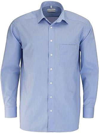 Marvelis Comfort Fit - Camisa de manga larga New Kent a cuadros, color azul: Amazon.es: Ropa y accesorios