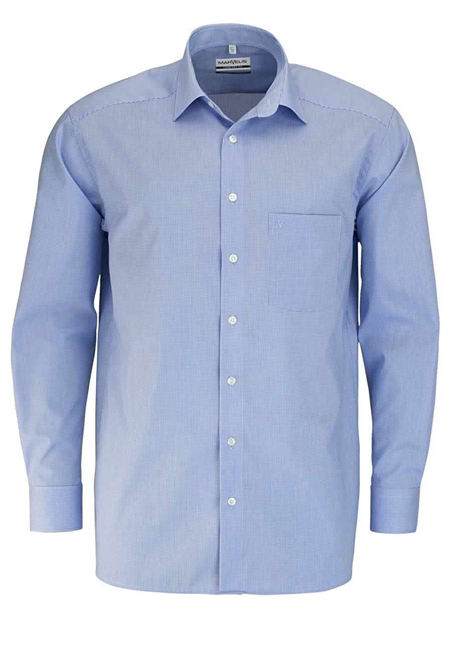 TALLA 43. Marvelis - Camisa Casual - Cuadros - Manga Larga - para Hombre