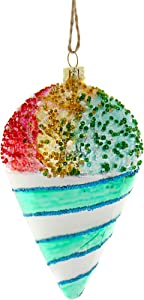CODY FOSTER & CO. Glass Rainbow SNOWCONE Christmas Tree Ornament