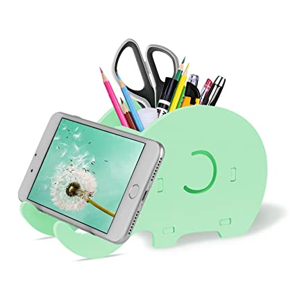 Office & School Supplies Cell Phone Stand Cute Elephant Phone Stand Tablet Desk Bracket With Pen Pencil Holder Compatible Smartphone Desk Decoration Mu