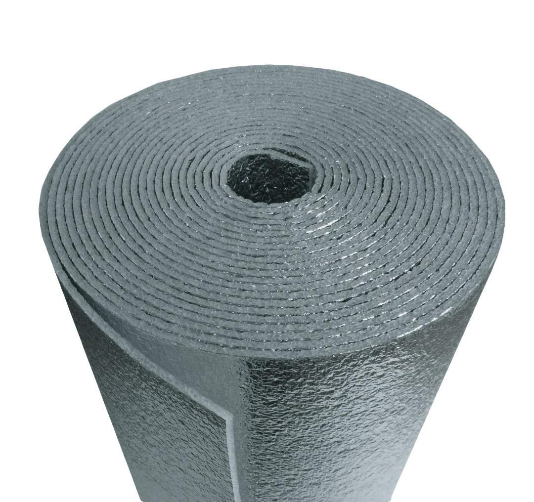 R-8 HVAC Duct Wrap Insulation Reflective 2 Sided Foam Core 4' x 25' (100 Sq Ft)