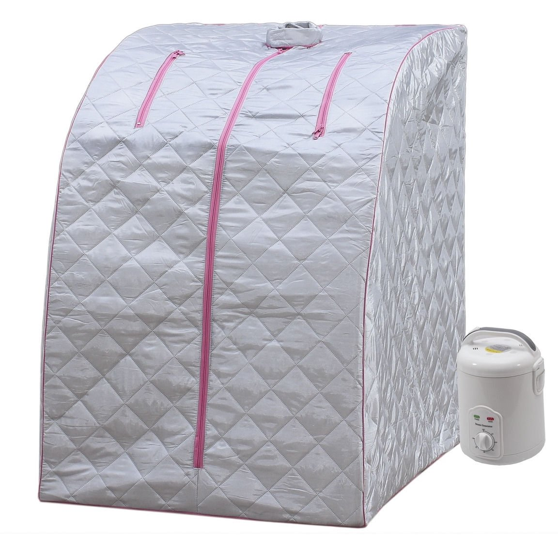 Lightweight Personal Steam Sauna by Durasage for Relaxation at Home, 60 Min Timer - Pink by DSS-404