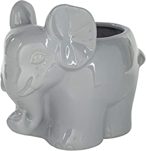 Home Essentials 28464 Grey Elephant Planter, 6-inch Height