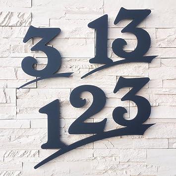 Hausnummer Anthrazit hausnummer 2 stellig 16cm ziffernhöhe in anthrazit grau
