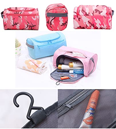 a7dfca365b SupaModen Men and Women s Travel Toiletry Bag Overnight Wash Gym Shaving  Bag Travel Folding Make up Bags with Hook Organizer Bags Cosmetic Bags  Toiletry ...