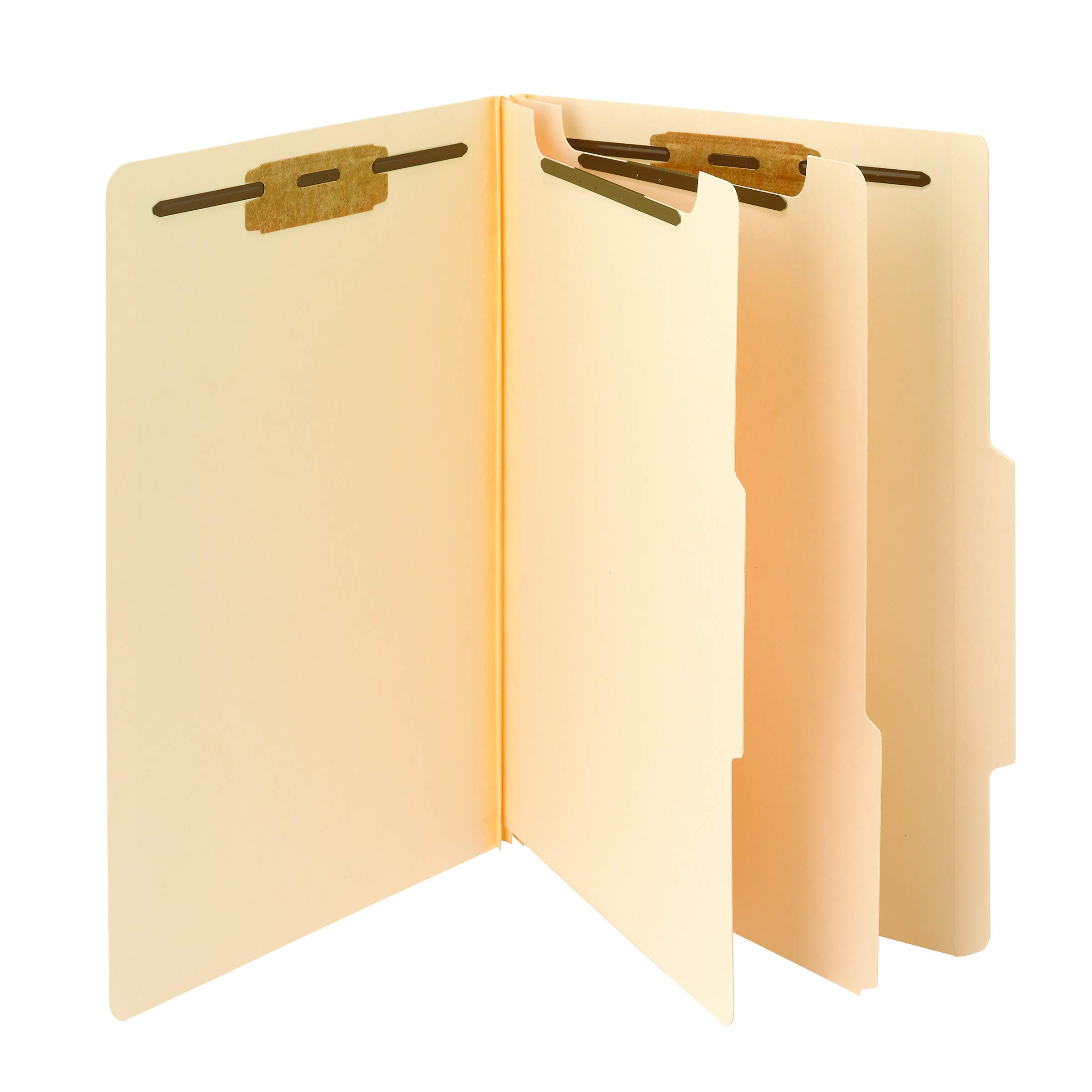 Smead Classification File Folder, 2 Dividers, 2'' Expansion, 2/5-Cut Tab, Legal Size, Manila, 10 per Box (19000) by Smead