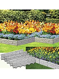 Exceptionnel Set Of 5 Faux Stone Sectioned Weather Resistant Garden Walls