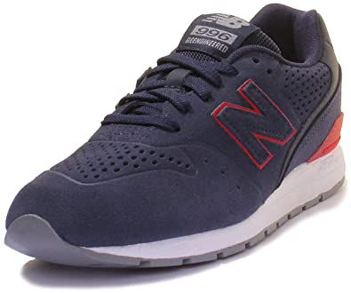 classic fit 2085a 652be Amazon.com | New Balance 996 Trainers in Navy and Red (UK 4 ...
