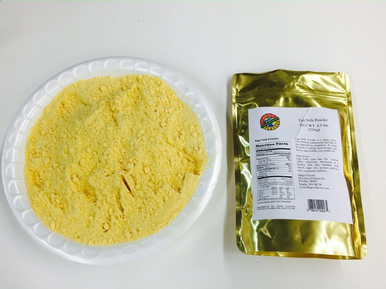 Mix of Magic Flavors Egg Powder, 8Oz x 6 Pouches, 2 Egg Yolk, 2 Egg White, 2 Whole Egg