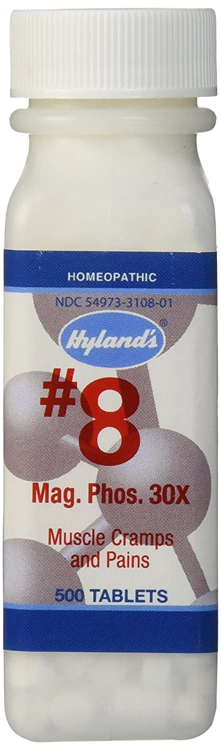 PMS Relief, Natural Homeopathic Relief of Menstrual Pain and Muscle Cramp Symptoms by Hyland's, Muscle Relaxer, Quick Dissolving #8 Cell Salt Magnesia Phosphoric 30X Tablets, 500 Count