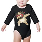 Gustaix Zimund Dabbing Pug Funny Dab Hip Hop Dabbing Unisex Baby Onesies Bodysuit Jumpsuit