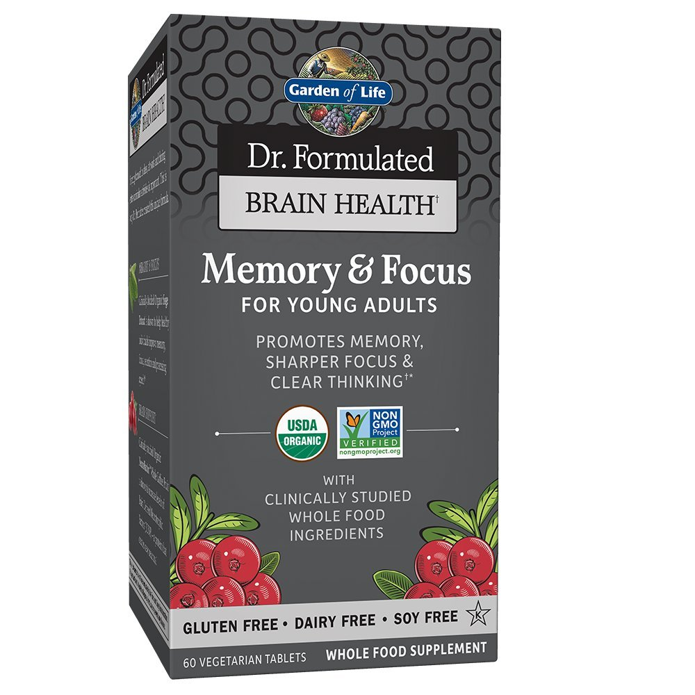Garden of life dr formulated organic brain health memory focus for adults 40 60 for Garden of life energy and focus