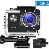 """Victure WIFI Action Cam Full HD 1080P 14MP Sport Action Camera Impermeabile 2 """"LCD 170 ° Gradi con 2 Batteria 20+ Kit Accessori"""