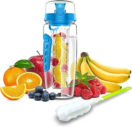 bouteille d eau avec infuseur a fruits 1l 1 5l gourde sport fabriquee en tritan sans bpa avec infusion amovible anti fuite pour sport ecole camping