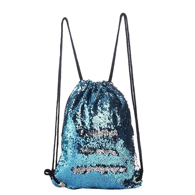 Supertop Sequin cordón bolsa mágica sirena Sequin bolsa cordón mochila de moda mochila bandolera Sequin danza bolsa para Mujeres Niñas: Amazon.es: Bricolaje ...