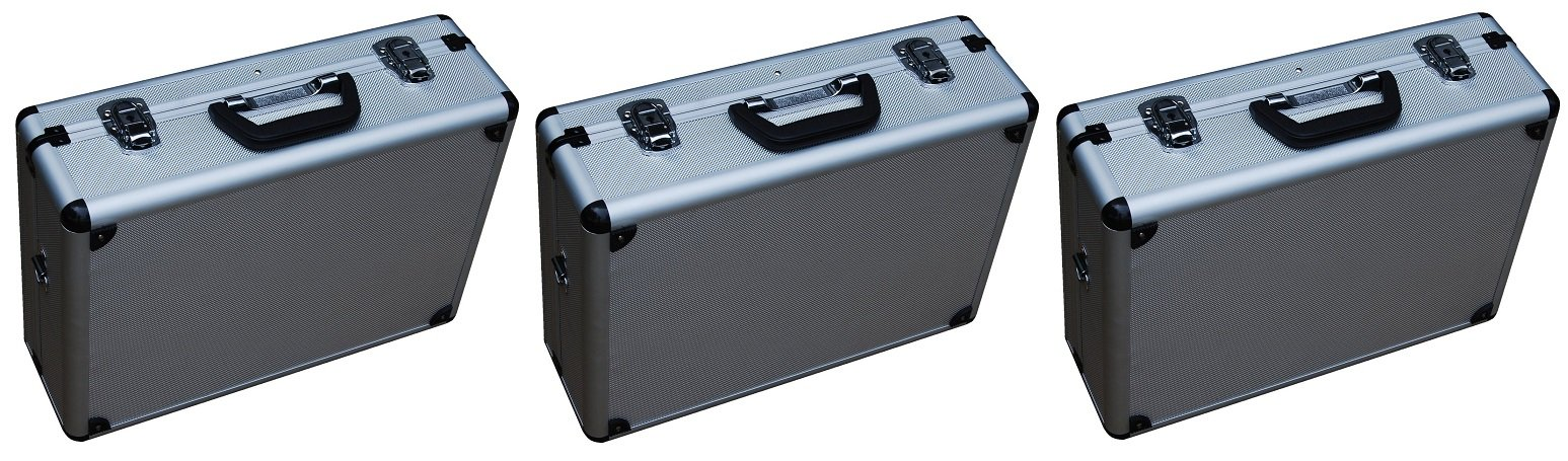 Vestil CASE-1814 Rugged textured Carrying Case with rounded corners. 18'' Length, 14'' Width, 6'' Height (Pack of 3)