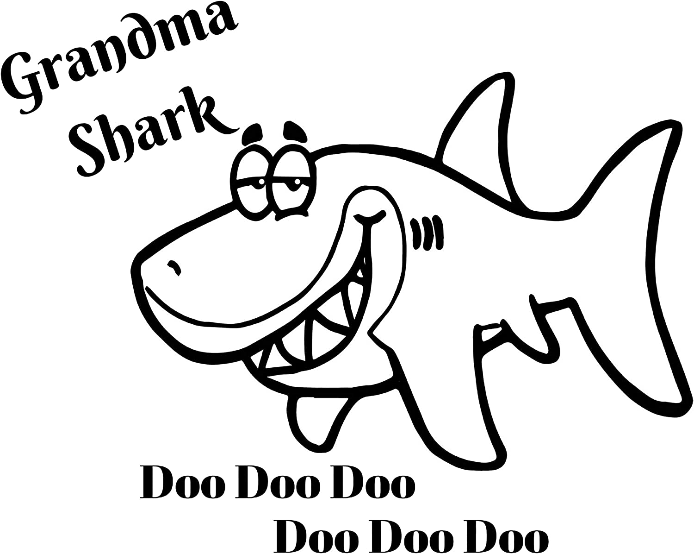 Amazon Com Grandma Shark Baby Shark Doo Doo Doo Iron On Transfer