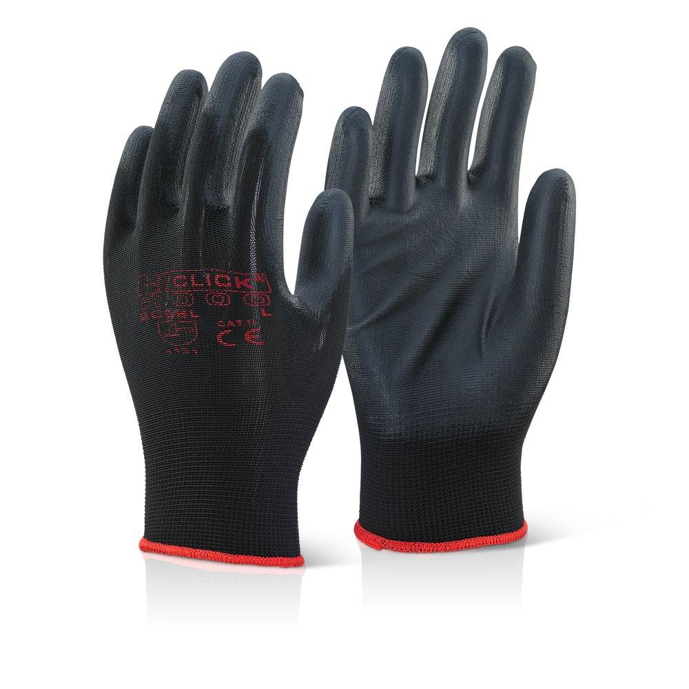 PU beschichtet Handschuh schwarz L