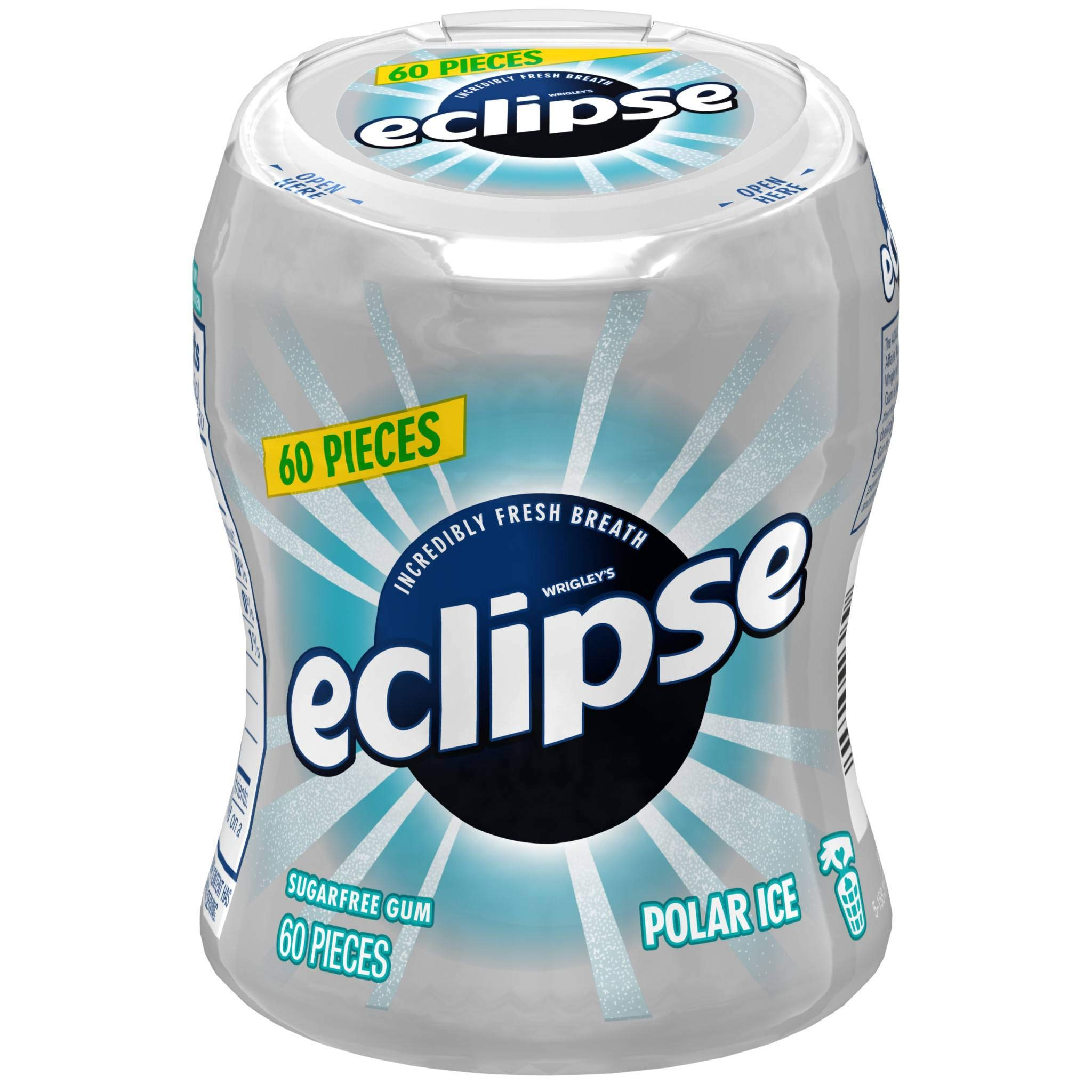 Eclipse Polar Ice Sugarfree Gum - 10 count per pack -- 3 packs per case.