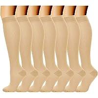 Acexy Calcetines de compresión (7 pares) para mujeres y hombres, para correr, enfermeras, circulación y recuperación