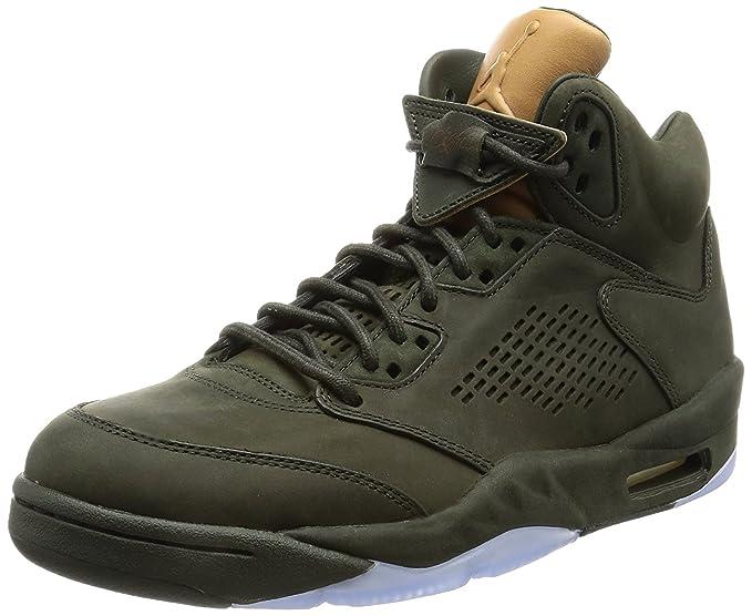 Nike Jordan Men Air Jordan 5 Retro Premium Sequoia Sequoia