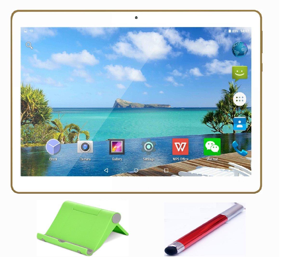 Ecran 10.1'' Tablette Tactile HD Double SIM Double caméras 1GB+16GB,Blanc