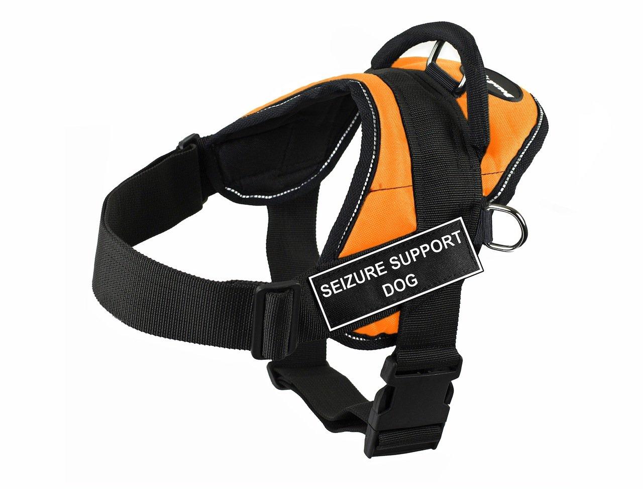 Dean & Tyler DT Fun Seizure Support Dog  Harness with Reflective Trim, X-Small, orange