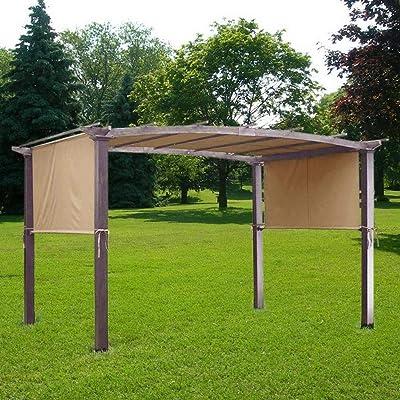 Rantepao - 17 x 6.5 Ft Pergola Canopy Replacement Cover Outdoor Yard Patio Tan 200g UV30+ : Garden & Outdoor