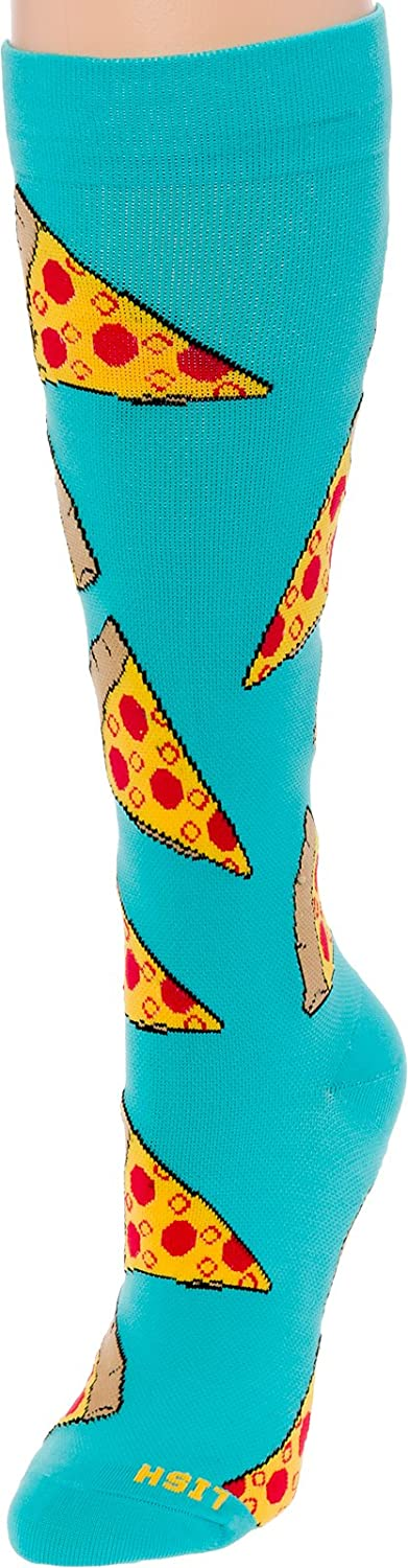Graduated 15-25mmHG Colorful Knee High Sport Socks for Men and Women by LISH Fun Running Compression Socks