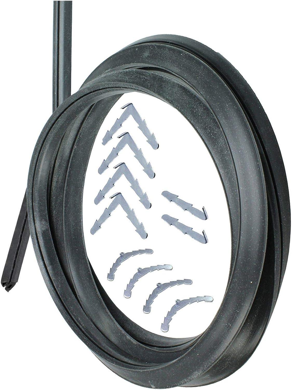SPARES2GO Junta universal de puerta de cocina de horno de goma de 3 y 4 lados (con clips de esquina de púas): Amazon.es: Hogar