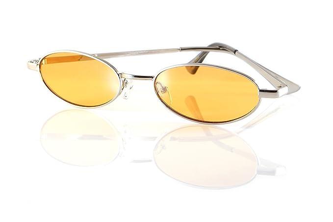 Amazon.com: Gafas de sol ovaladas de color ahumado con ...
