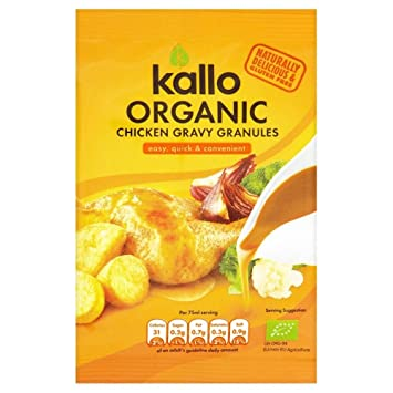 Kallo Gránulos De Salsa De Pollo Orgánicos (35g) (Paquete de 6)