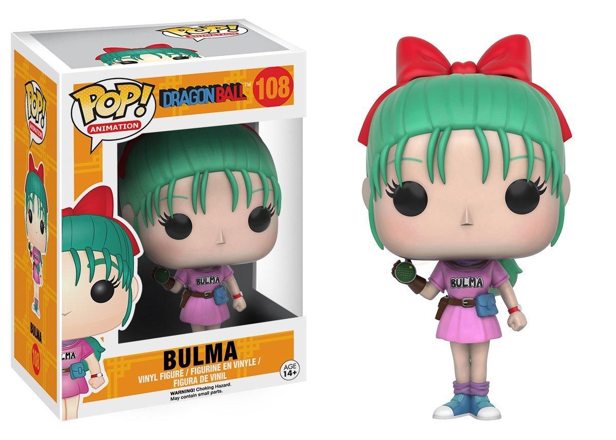 Bundled with Pop BOX PROTECTOR CASE Bulma Vinyl Figure Funko Pop Anime: Dragon Ball Z