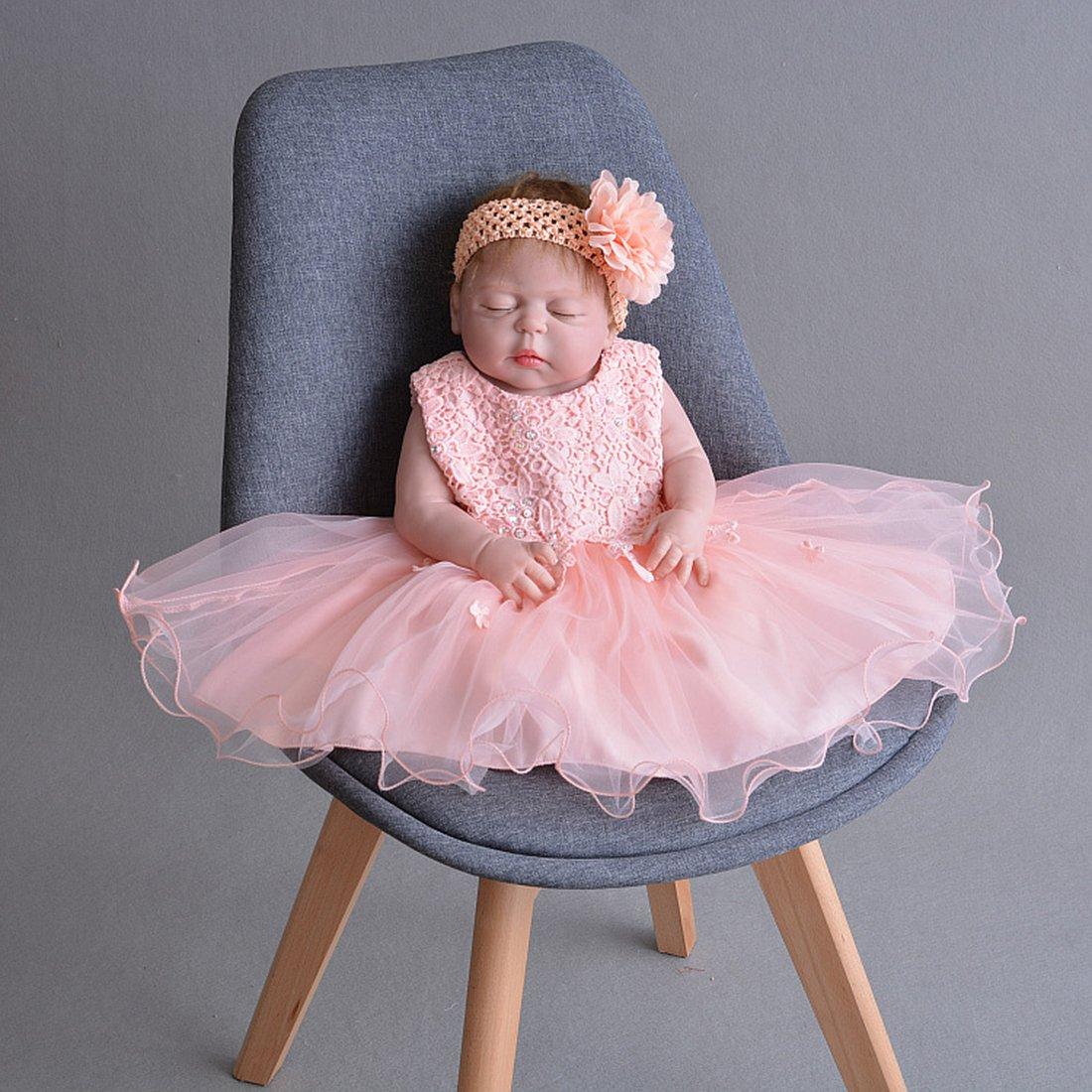 ADHS recién nacido Bebés y Niñas y Vestido ADHS de boda 7711 ...