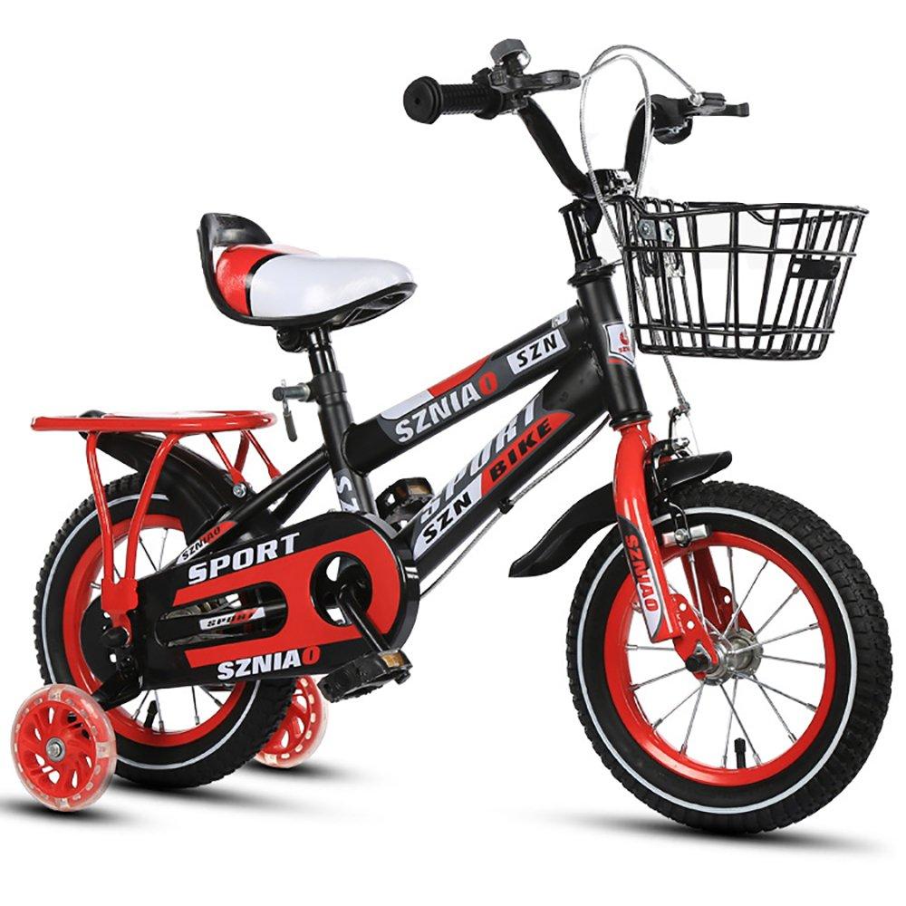mejor moda rojo 16'' Z&D Bicicletas Bicicletas Bicicletas Para Niños, Bicicleta Con Estabilizador De Alto Cochebono Con Bastidor, Altura Ajustable, 12 '', 14 '', 16 '', 18 '', Para 2-9 Años  excelentes precios