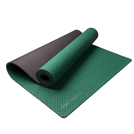 Aqui Legend Yoga Mat, Eco Friendly Non-Slip Exercise & Fitness Yoga Mat with a Carrying Strap, Anti-Tear Workout Mat for All Types of Yoga, Pilates, ...