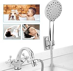 Sink Faucet Hose Shower Attachment - Faucet Sprayer Extension Rinser for Bathtub Bathroom Kitchen Laundry Tub, w/ 360 Swivel Aerator, Faucet Diverter, 6.5ft Hose, 6-Spray showerhead for Delta Moen