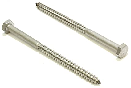 3//8 X 1-1//4 Stainless Hex Lag Bolt Screws 25 Pack 304 18-8 Stainless Steel By...