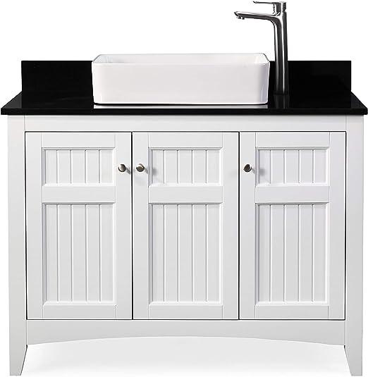 Amazon Com 42 Thomasville Farmhouse White Vessel Sink Bathroom