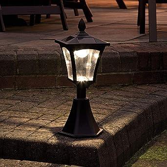 Borne Lumineuse Solaire Extérieure - Éclairage de Jardin Waterproof ...